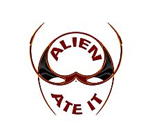 The Alien Ate It Photographic Print
