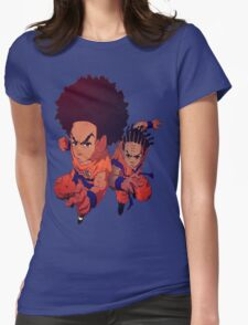 The Boondocks|Dragon Ball Z Womens Fitted T-Shirt