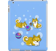 Playful Shiba Inu and Temari iPad Case/Skin