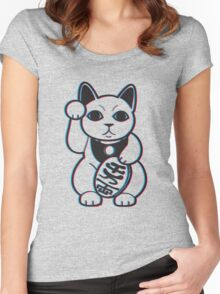 Maneki-NekWHOAH! Women's Fitted Scoop T-Shirt