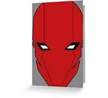 Red Hood Helmet Greeting Card