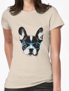 Hipster French Bulldog Nerdy Dog T-Shirt