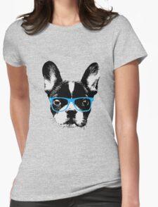 Hipster French Bulldog Nerdy Dog T-Shirt