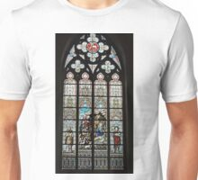 Stained glass window, St Salvator's cathedral, Bruges, Belgium Unisex T-Shirt
