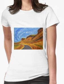Road in Iceland Womens Fitted T-Shirt