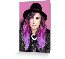 Demi in pink Greeting Card