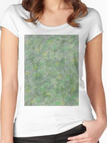 Holo with Leaves Women's Fitted Scoop T-Shirt