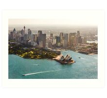 Sydney from the Sky Art Print