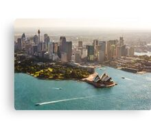 Sydney from the Sky Canvas Print