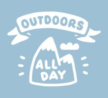 Outdoors All Day Baby Tee