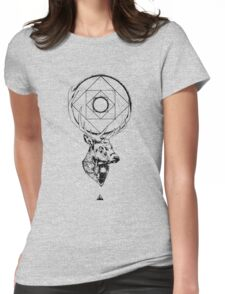 Buck + Geometry Womens Fitted T-Shirt