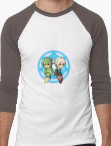 Damian + Nora Chibi Men's Baseball ¾ T-Shirt