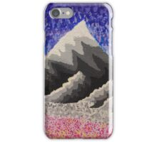 Mountains and flower field iPhone Case/Skin