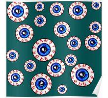 Eyeballs All Over! Peeper Print Poster