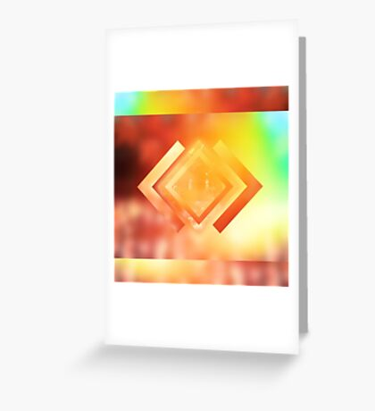 Abstract Geometric Gradient Colors Orange Blue Green Yellow Greeting Card