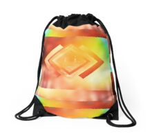 Abstract Geometric Gradient Colors Orange Blue Green Yellow Drawstring Bag