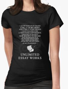 Unlimited Essay Works Womens Fitted T-Shirt
