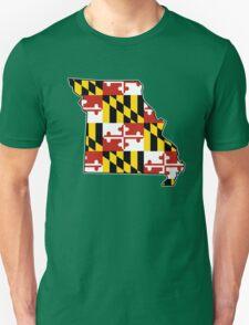 Maryland flag Missouri outline Unisex T-Shirt