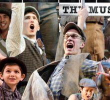 Newsies on Broadway photo collage Sticker