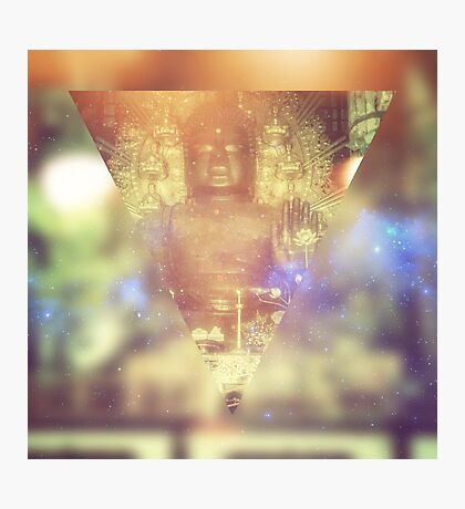 Buddha May Peace Prevail Within You Abstract Geometric Photographic Print