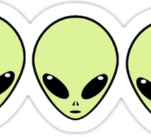 3  cute aliens  Sticker