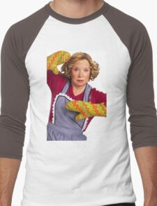 kitty forman with oven mitts Men's Baseball ¾ T-Shirt