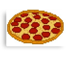 Pizza 8 bit Canvas Print