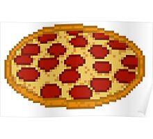 Pizza 8 bit Poster
