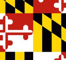 Maryland flag Pennsylvania outline Sticker