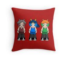 Bunny Rowdyruff Boy Team! Throw Pillow