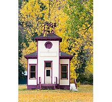 Timber Church in Autumn Photographic Print