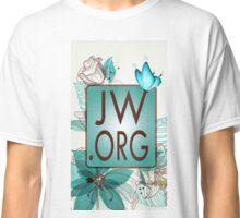 JW.ORG LOGO BLUE FLORAL Classic T-Shirt