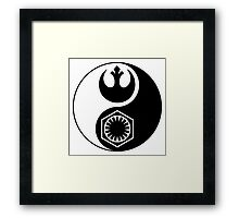 Star Wars - The Resistance v The First Order Yin Yang Framed Print