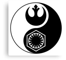 Star Wars - The Resistance v The First Order Yin Yang Canvas Print