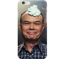 red forman with whipped cream on his head iPhone Case/Skin