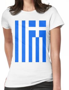 Greece Flag Womens Fitted T-Shirt