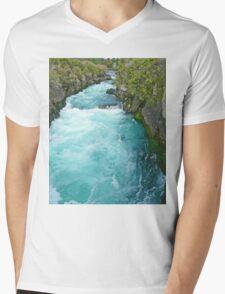 Huka Falls, New Zealand Mens V-Neck T-Shirt