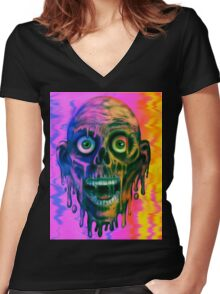 Tar Man Women's Fitted V-Neck T-Shirt