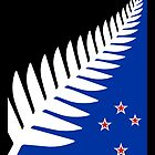 Silver Fern Flag Banner by stoopiditees