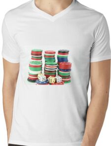 chips and dices Mens V-Neck T-Shirt