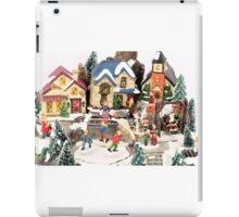 little town winter scene iPad Case/Skin