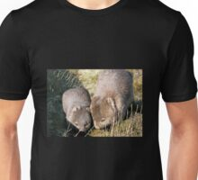 Wombat Mother and Child, Cradle Mountain, Tasmania, Australia. Unisex T-Shirt