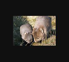 Wombat Mother and Child, Cradle Mountain, Tasmania, Australia. Unisex T-Shirt