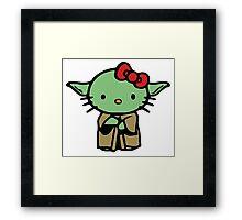 Hello Kitty Yoda Star Wars Framed Print