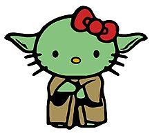 Hello Kitty Yoda Star Wars Photographic Print