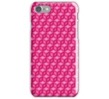 Hot pink cubes iPhone Case/Skin
