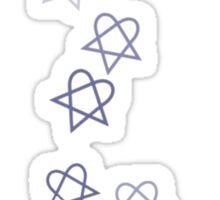 Heartagram Shower Sticker