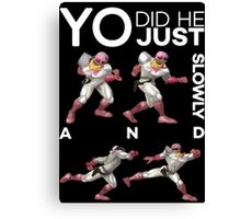 Yo, did he just walk up slowly and Down-Smash? - Super Smash Bros. Melee - Scar Canvas Print