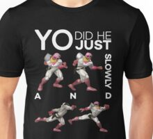 Yo, did he just walk up slowly and Down-Smash? - Super Smash Bros. Melee - Scar Unisex T-Shirt
