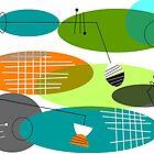 Mid-century modern ovals by Gail Gabel, LLC